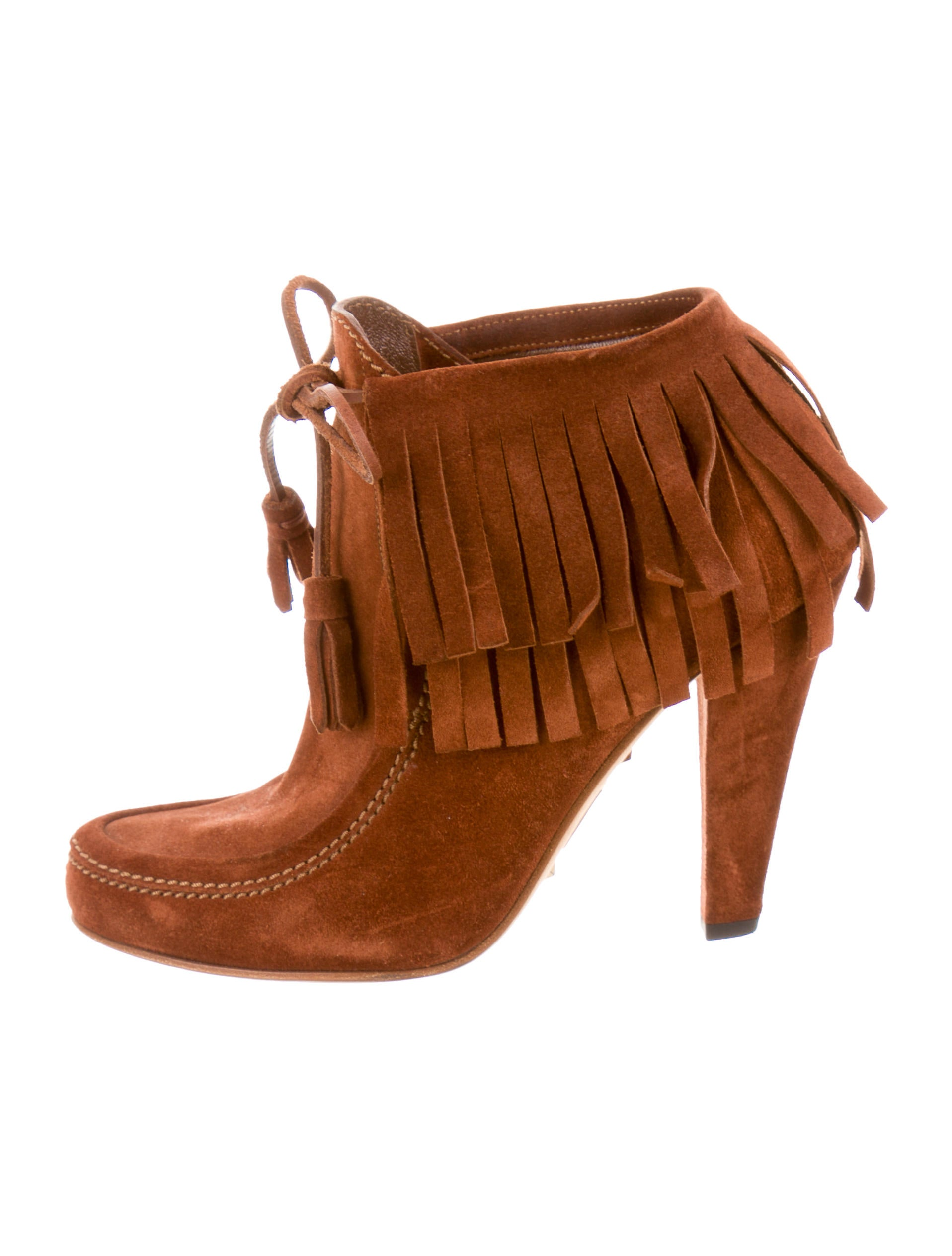 gucci suede fringe ankle boots shoes guc78643 the