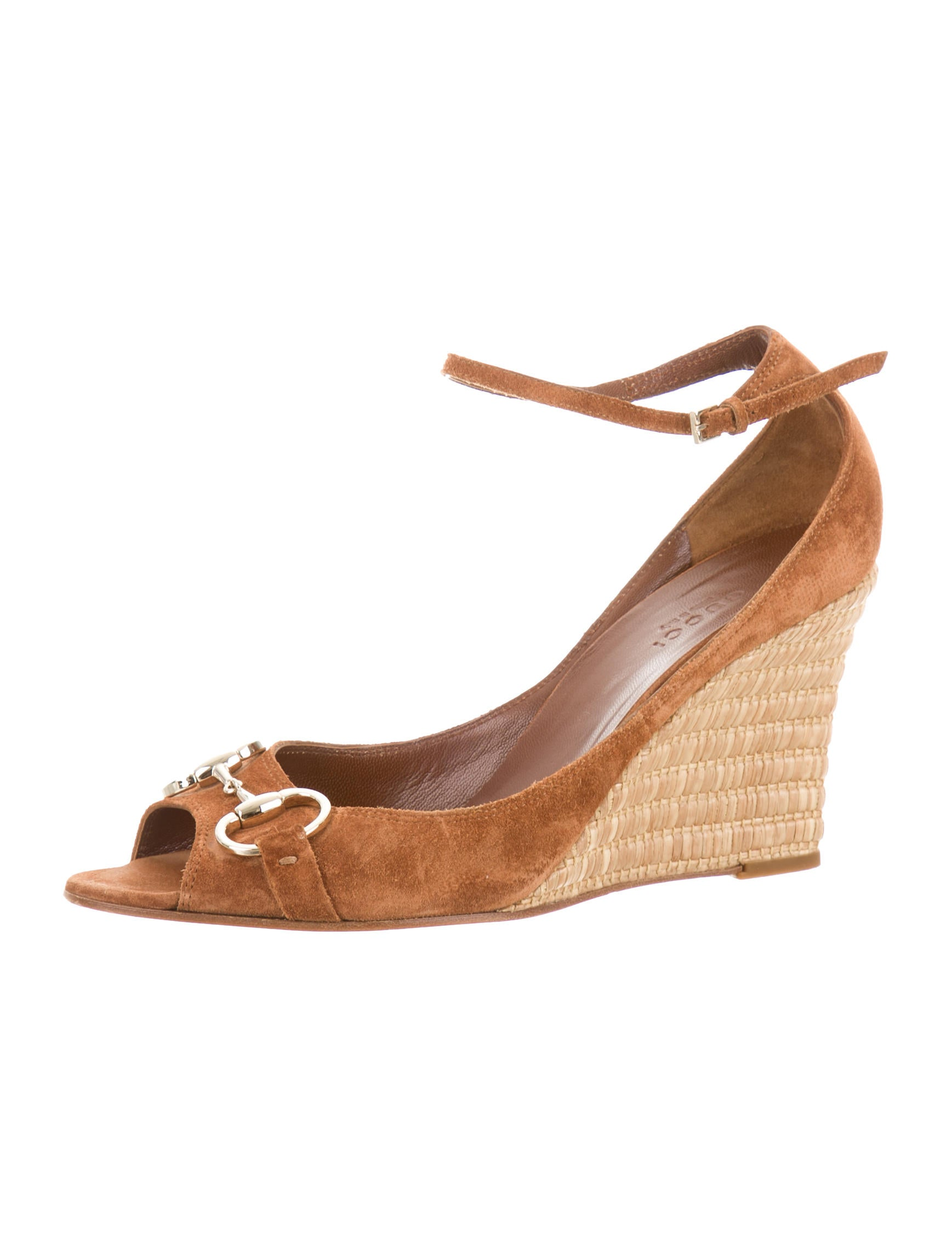 gucci suede horsebit wedges shoes guc83963 the realreal