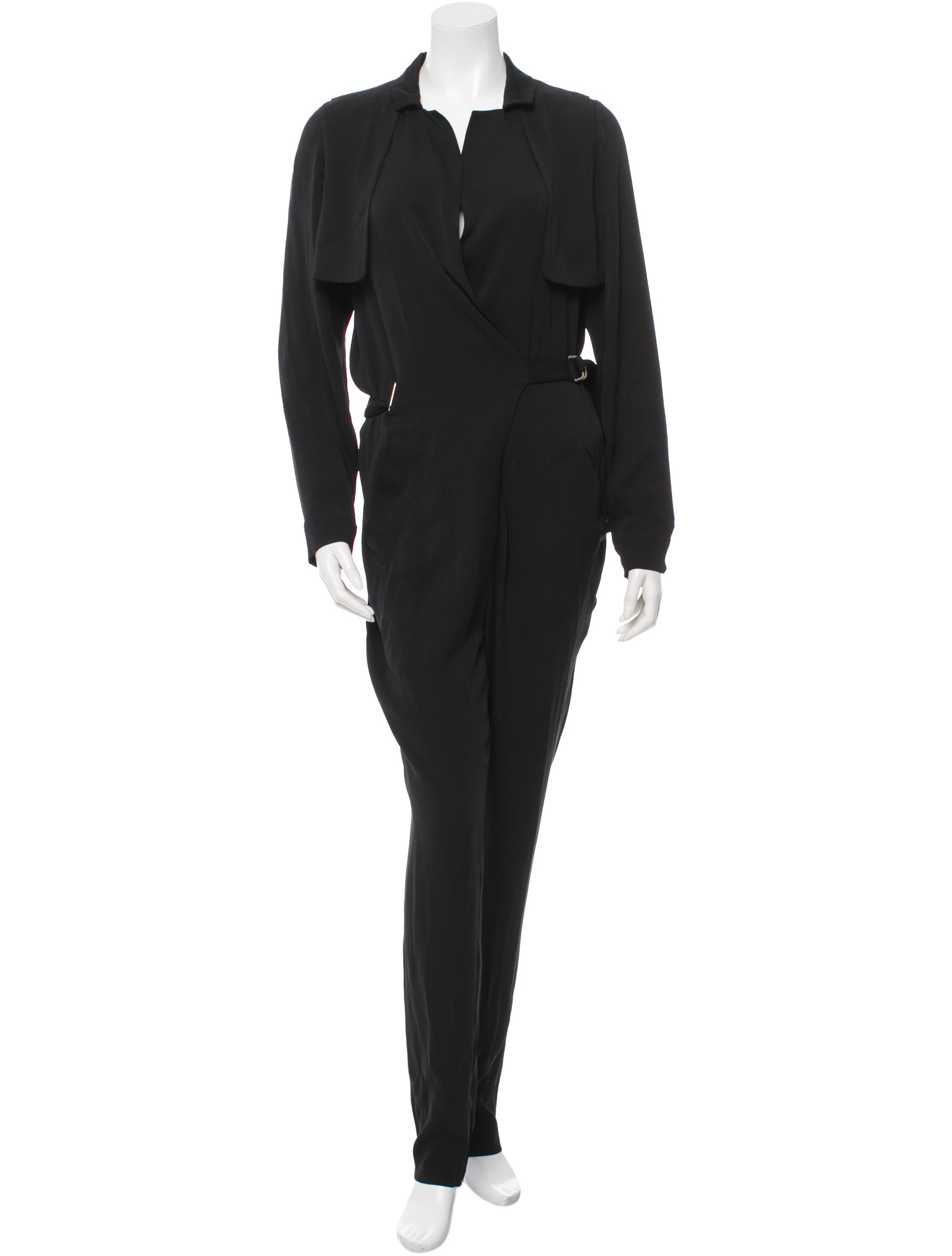 Perfect Gucci Black Jumpsuit With Lace Fern Detail In Black  Lyst