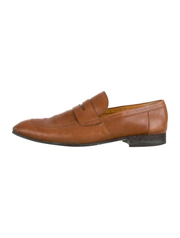 Gucci Leather Penny Loafers