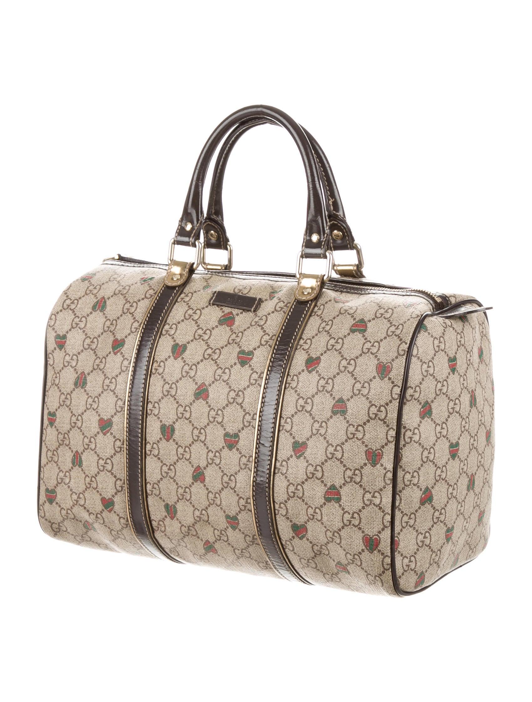 Boston Bag Patchwork Tutorial: Gucci Tattoo Hearts Joy Boston Bag