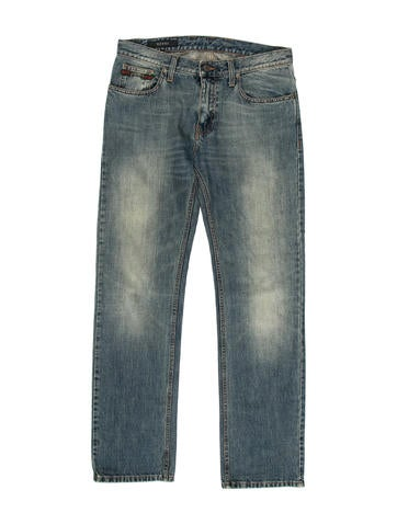 Gucci Five-Pocket Web-Trimmed Jeans