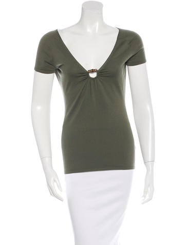 Gucci Wool Bamboo-Accented Top None