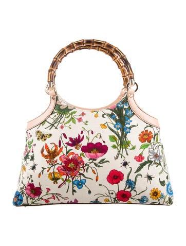 Gucci Flora Bamboo Bag