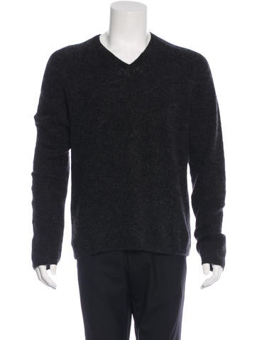 Gucci Mohair and Wool V-Neck Sweater None