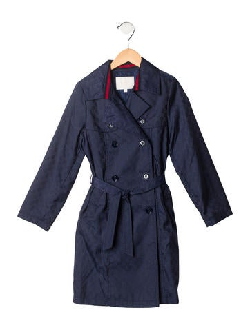 Gucci Girls' GG Trench Coat w/ Tags