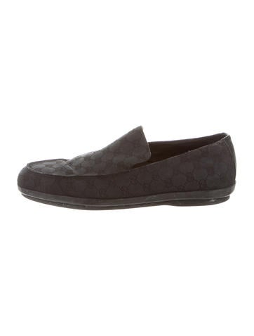 Gucci GG Canvas Loafers