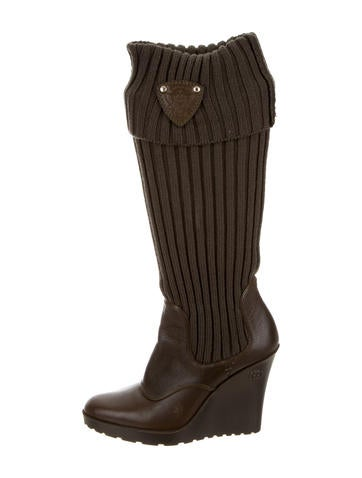 Gucci Knit Knee-High Boots None
