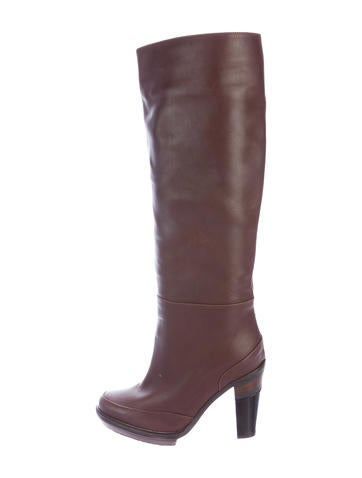 Henry Beguelin Leather Platform Boots None