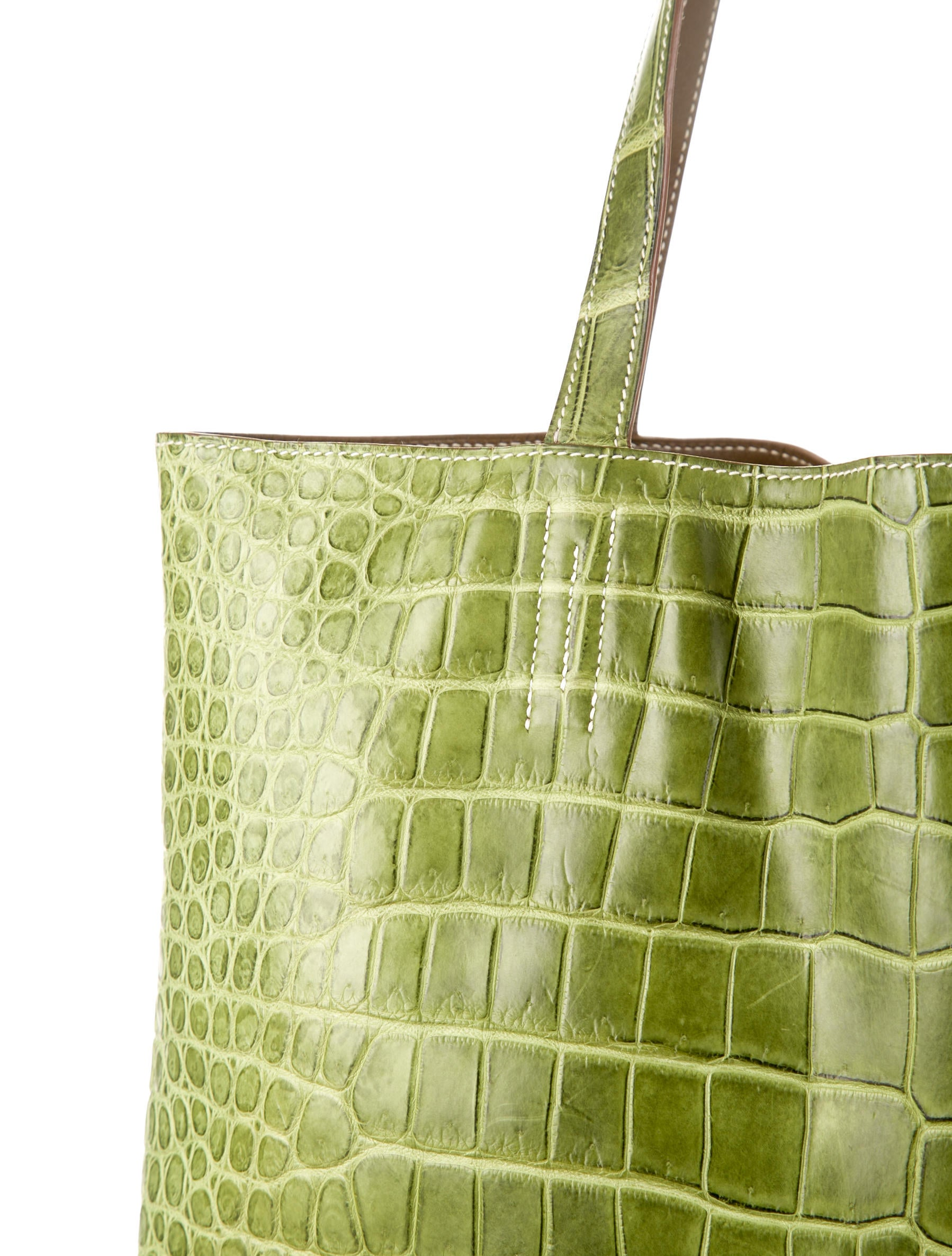 Herm��s Double Sens Croco Tote - Handbags - HER38211 | The RealReal