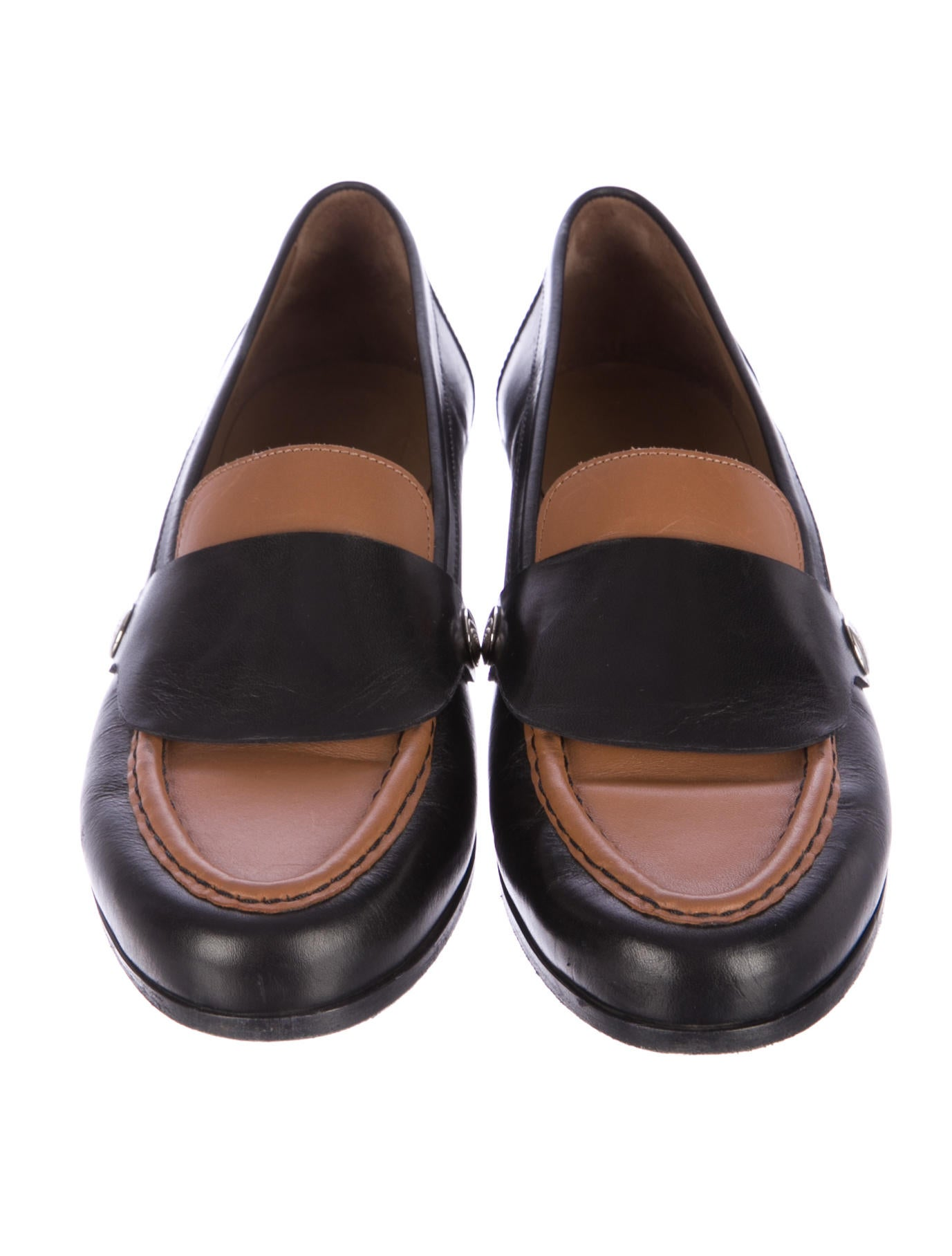Hermu00e8s Leather Colorblock Loafers - Shoes - HER54236 | The ...