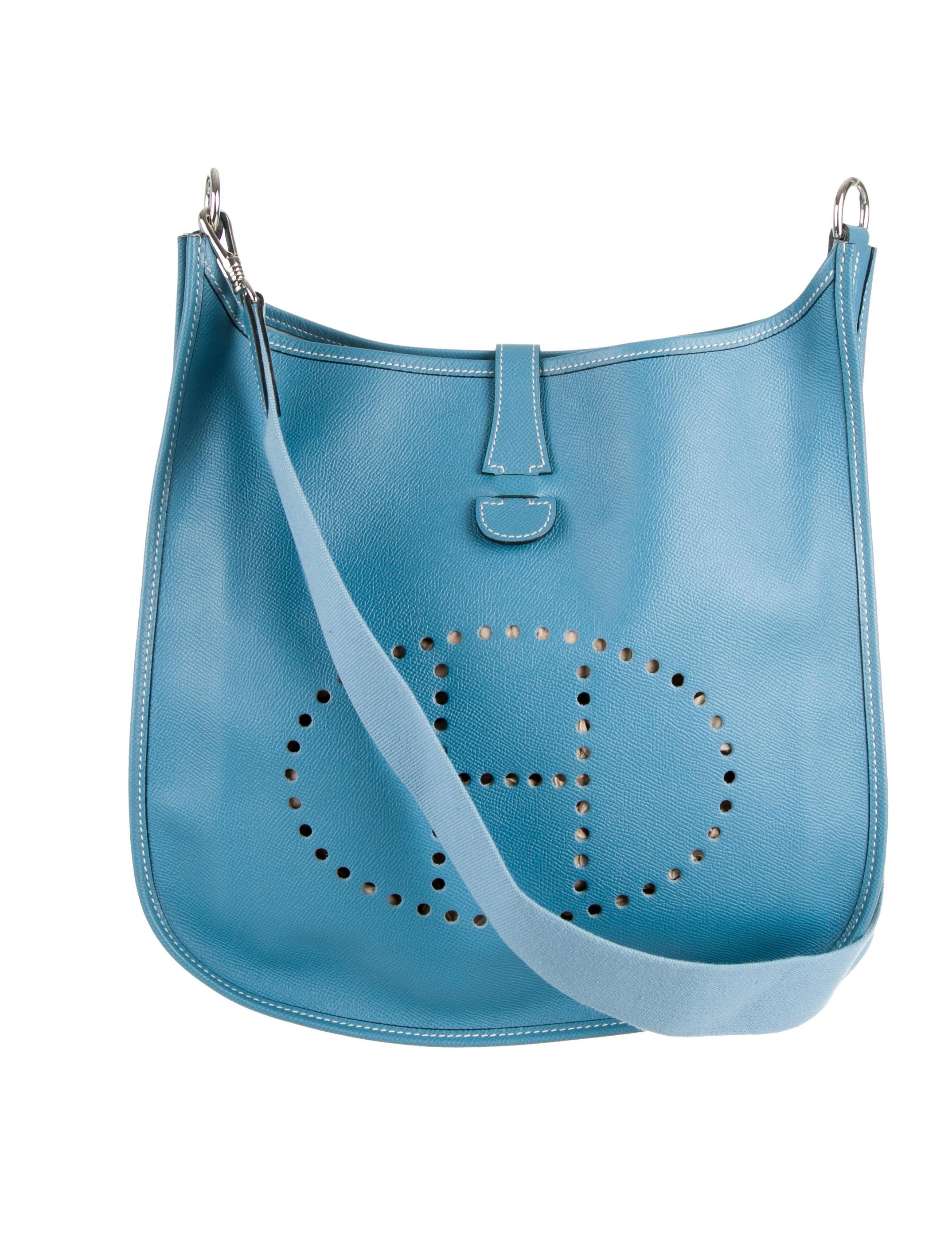 faux ostrich handbag - Herm��s Couchevel Evelyne I GM - Handbags - HER55158   The RealReal