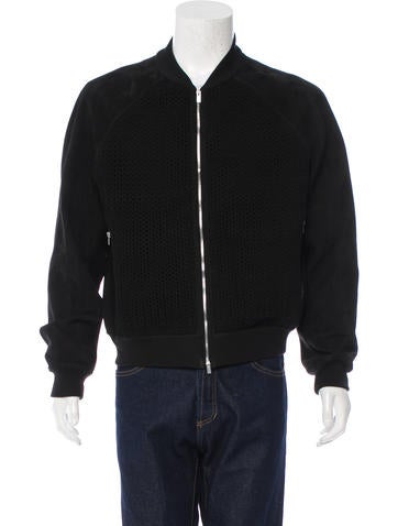 Hermès Suede Bomber Jacket None