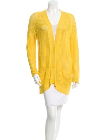 Hermès Silk V-Neck Cardigan None