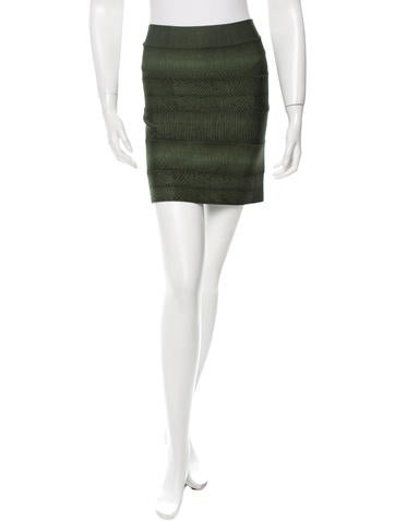 Herve Leger Printed Mini Skirt None