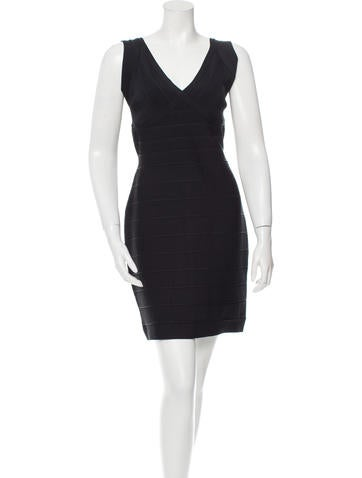Herve Leger Sleeveless Bandage Dress None