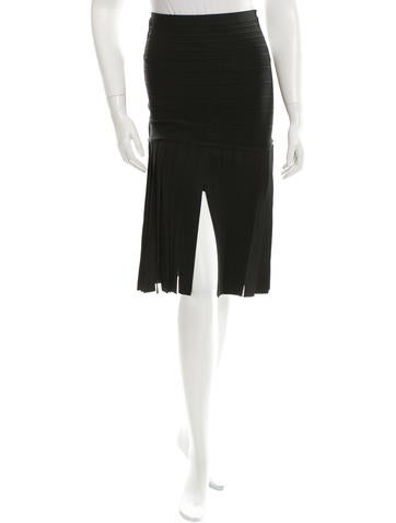 Herve Leger Viola Bandage Skirt None