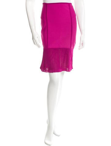 Herve Leger Knee-Length Bandage Skirt None