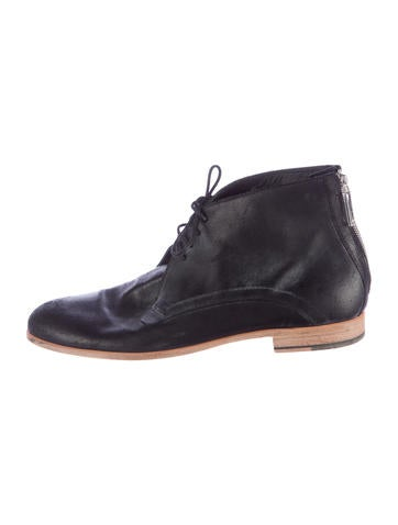 Dior Homme Distressed Leather Boots