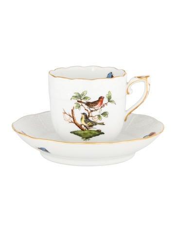 Herend Rothschild Bird Mocha Cup & Saucer None