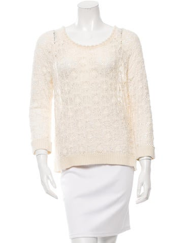 Isabel Marant Crochet-Trimmed Lace Top None