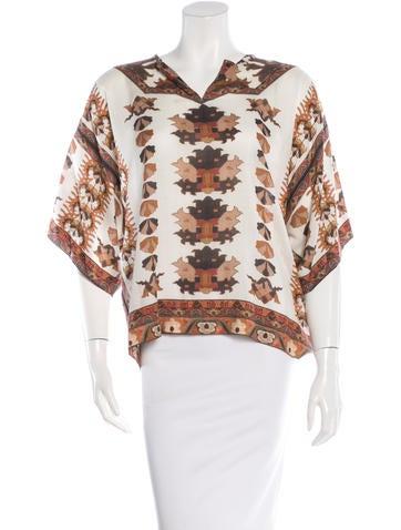 Isabel Marant Printed Short Sleeve Top None
