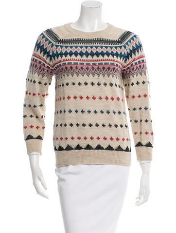 Isabel Marant Wool Metallic-Accented Sweater None