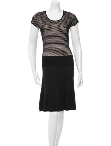 Issa Short Sleeve Rib Knit Dress None