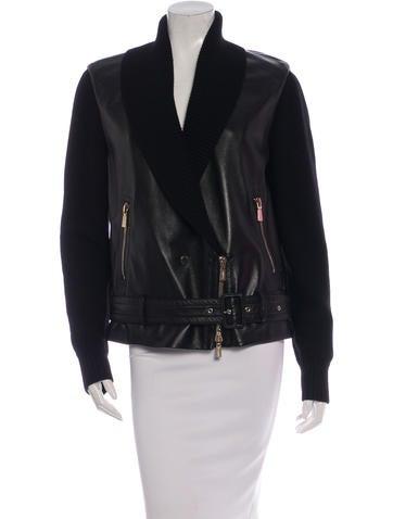 Jason Wu Wool & Leather Moto Jacket None