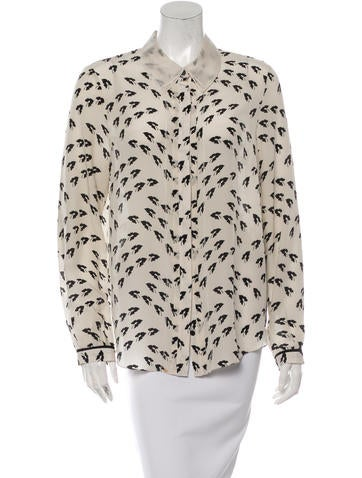 Jason Wu Silk Button-Up Top None