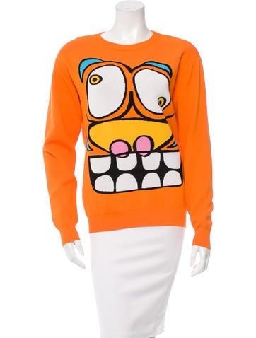 Jeremy Scott Knit Scoop Neck Sweater None