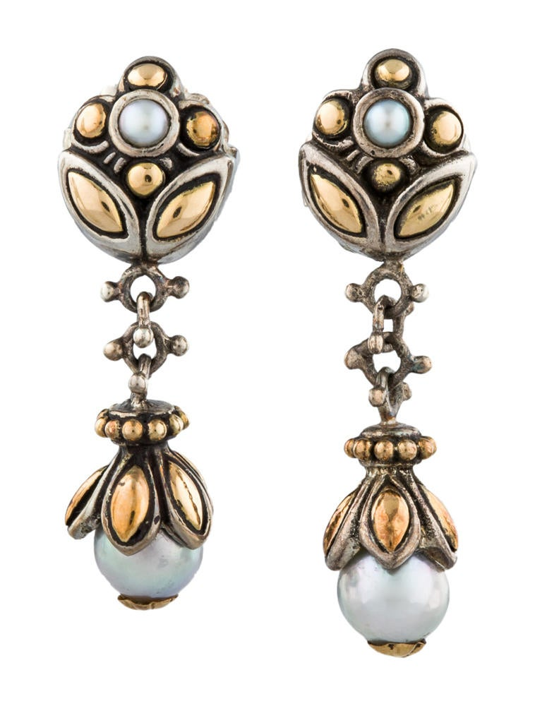 John hardy pearl drop earrings earrings jha20224 the for John hardy jewelry earrings