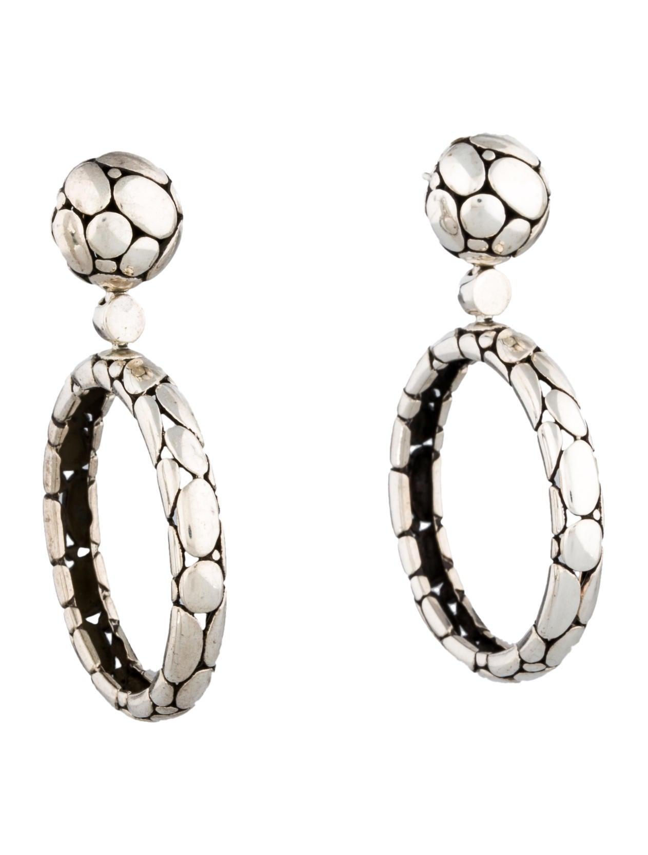 John hardy kali hoop drop earrings jewelry jha21133 for John hardy jewelry earrings
