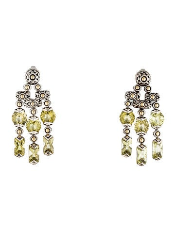 John Hardy Two-Tone Peridot Earrings
