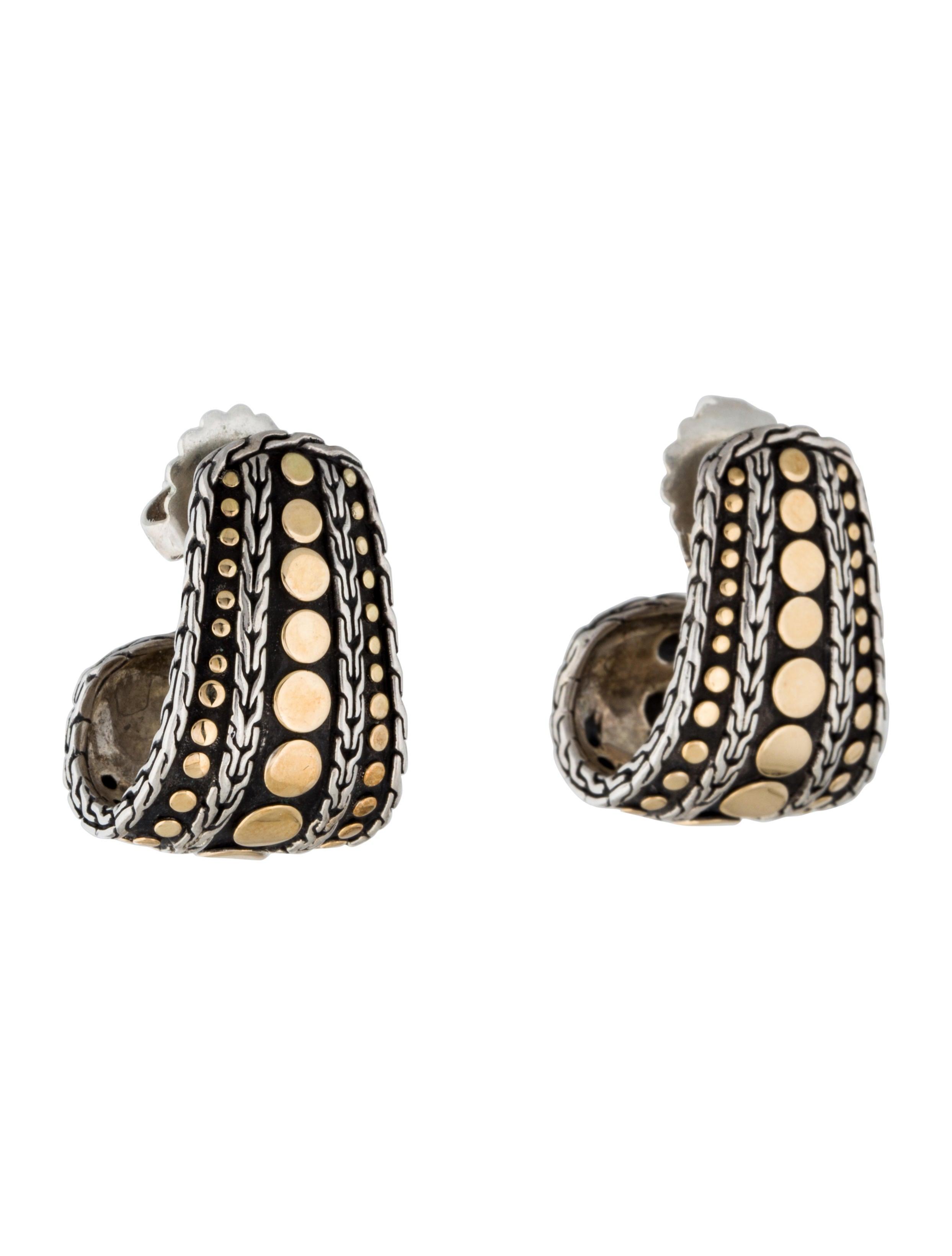 John hardy two tone dot earrings earrings jha24232 for John hardy jewelry earrings