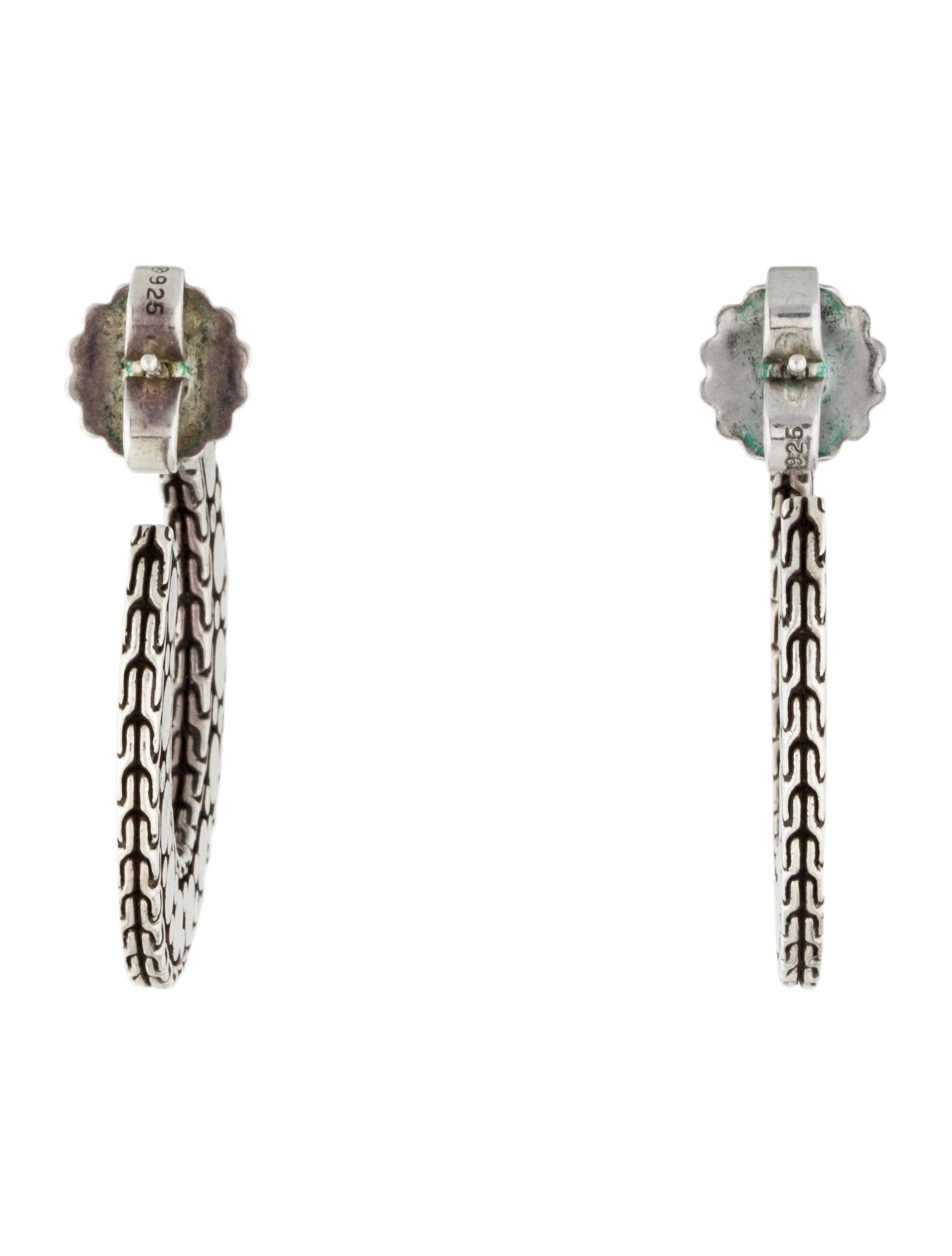 John hardy nuansa large flat hoop earrings earrings for John hardy jewelry earrings