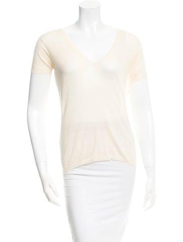 Jil Sander Wool Short Sleeve Top None
