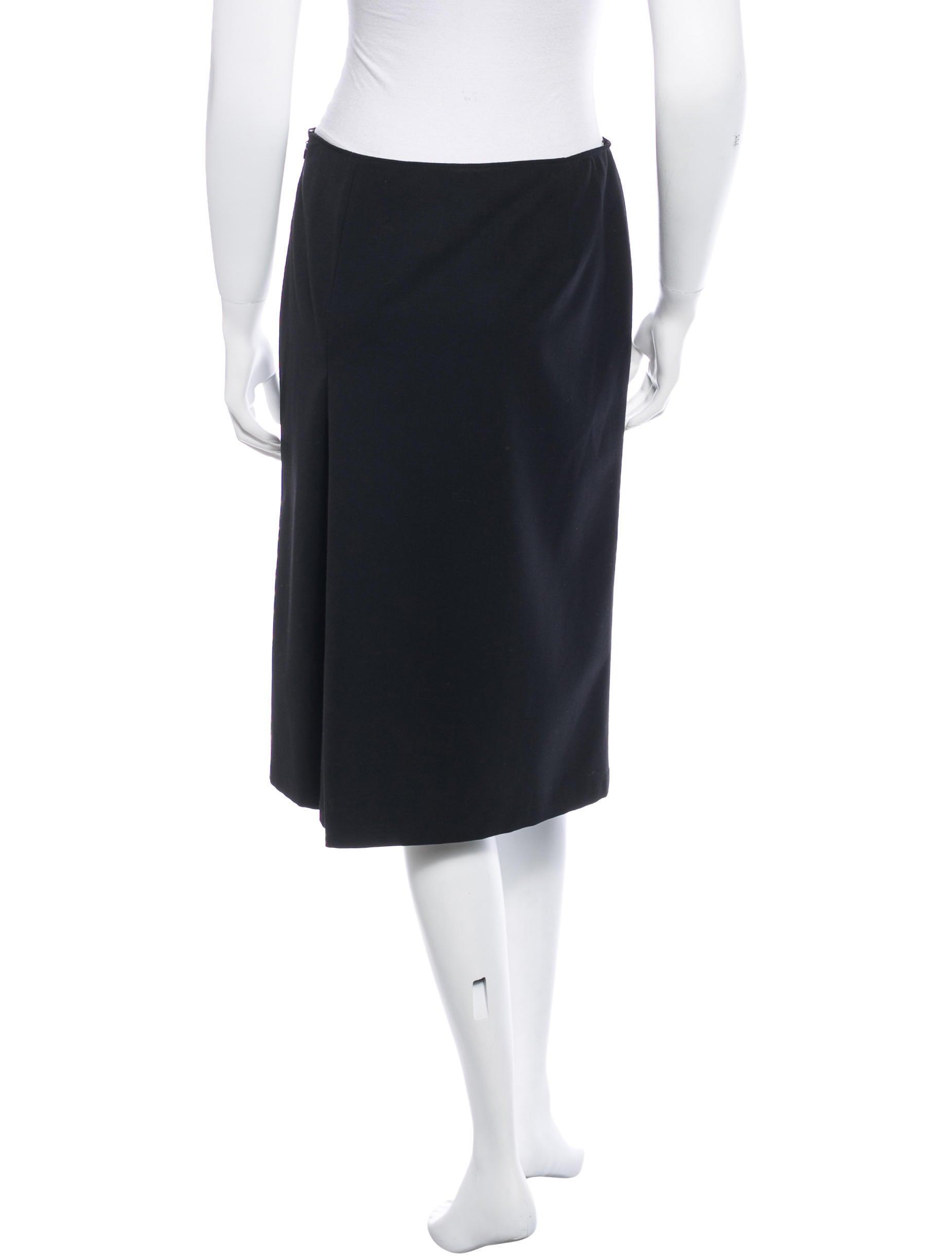 jil sander wool knee length skirt skirts jil29657