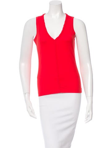 Jil Sander V-Neck Sleeveless Top None