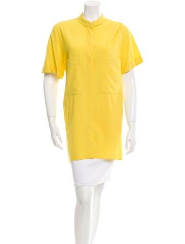 Jil Sander Virgin Wool-Blend Button-Up Tunic None