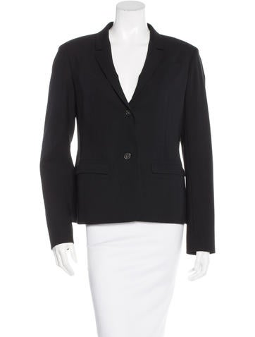Jil Sander Wool Notch-Lapel Blazer None