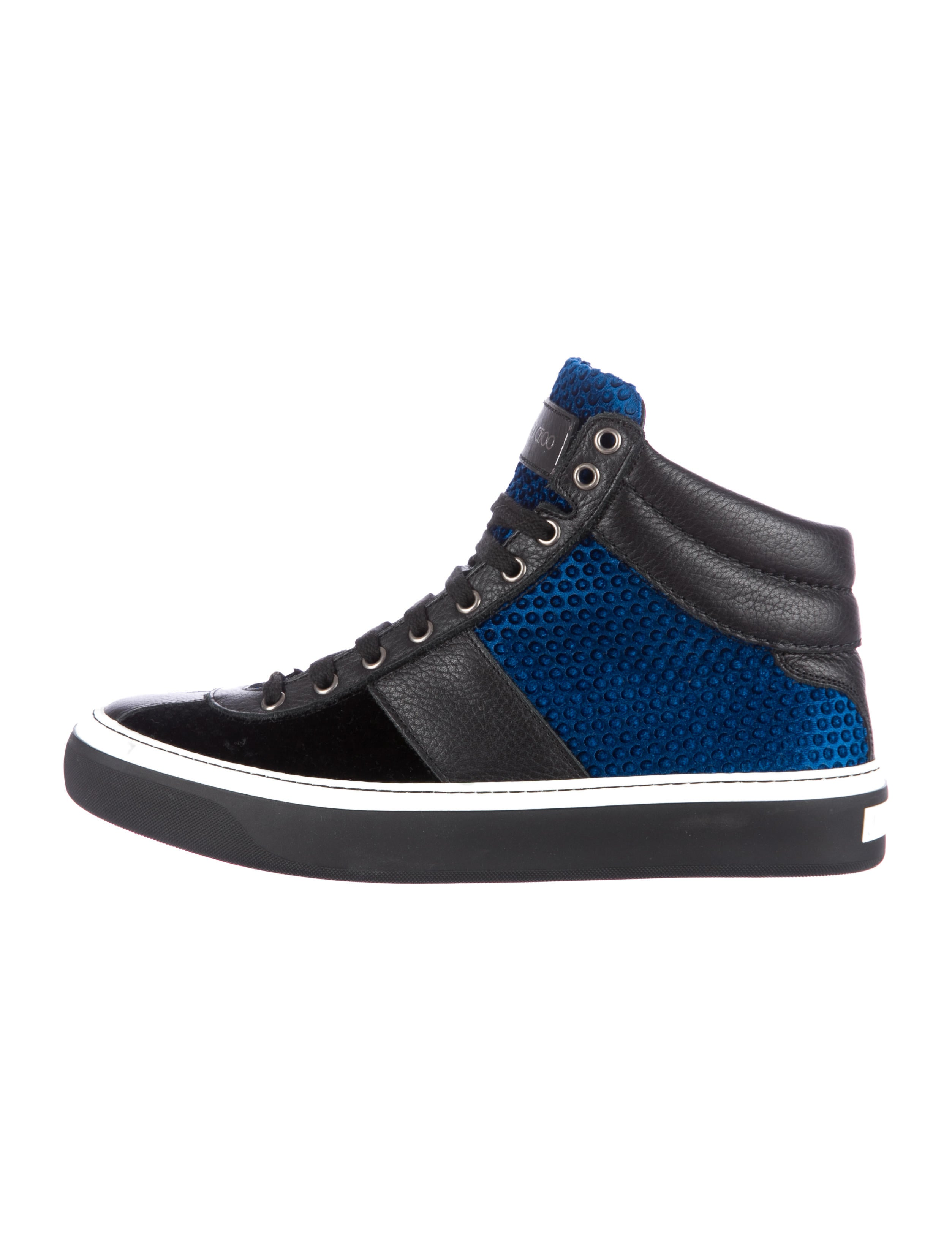 jimmy choo high top sneakers mens shoes jim32149 the realreal. Black Bedroom Furniture Sets. Home Design Ideas