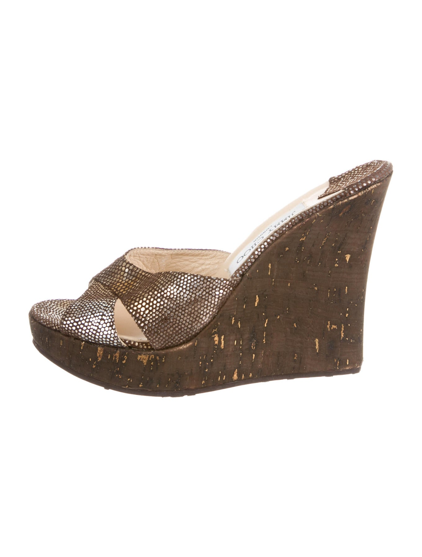 jimmy choo wedges shoes jim35673 the realreal