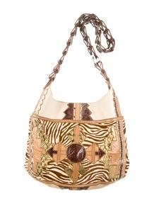 Chlo�� Python Crystal Bow Clutch - Handbags - CHL33526   The RealReal