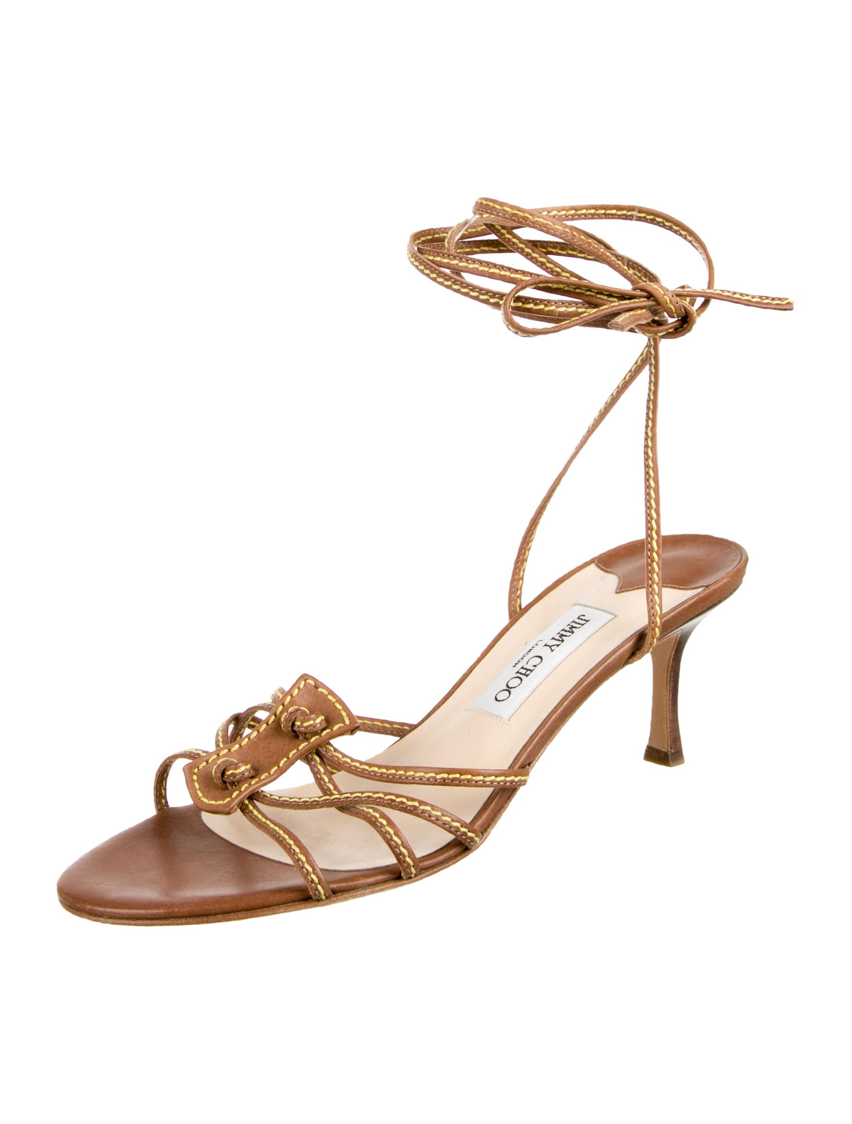 Jimmy Choo Leather Lace-Up Sandals - Shoes - JIM41009 ...
