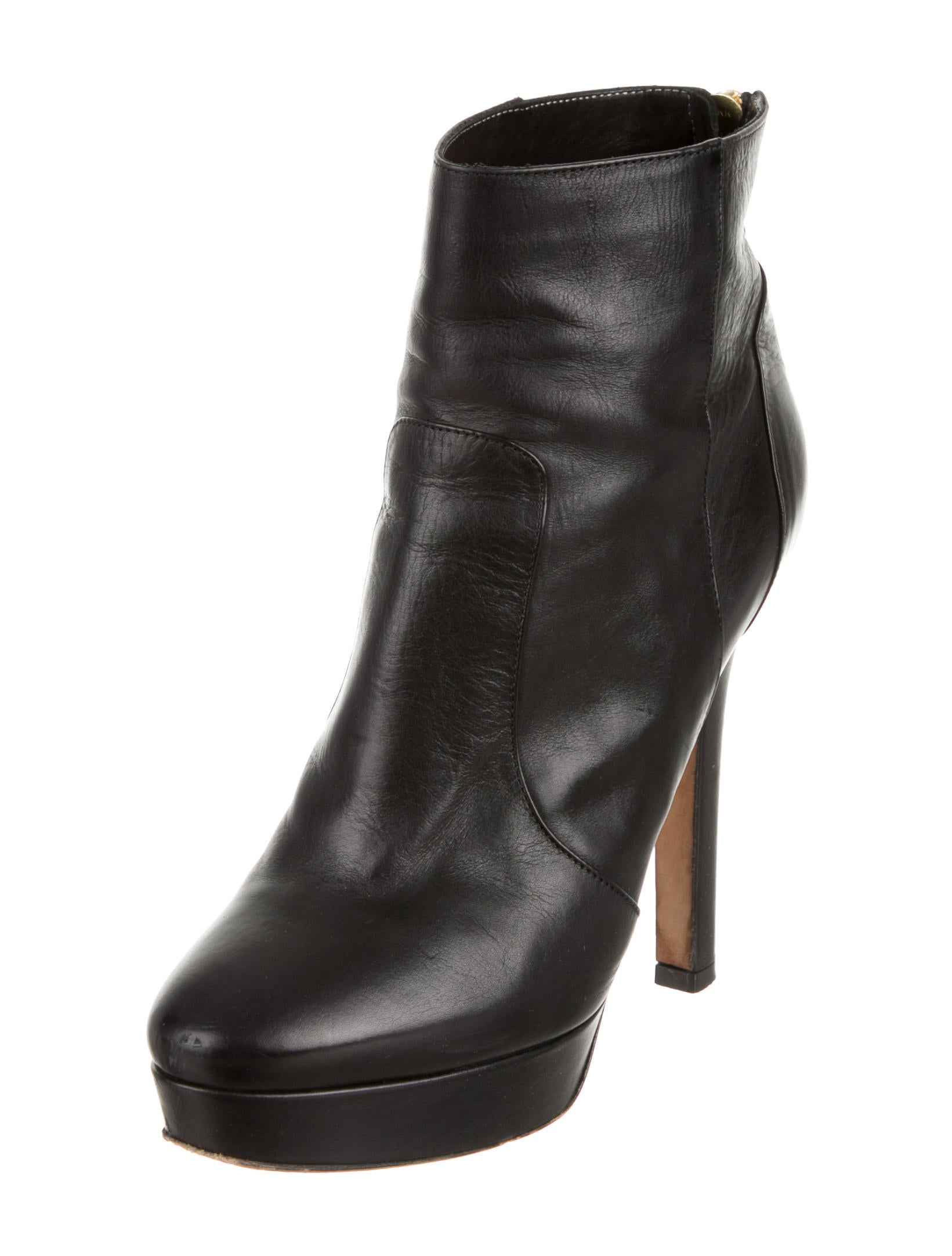 jimmy choo leather platform ankle boots shoes jim41179