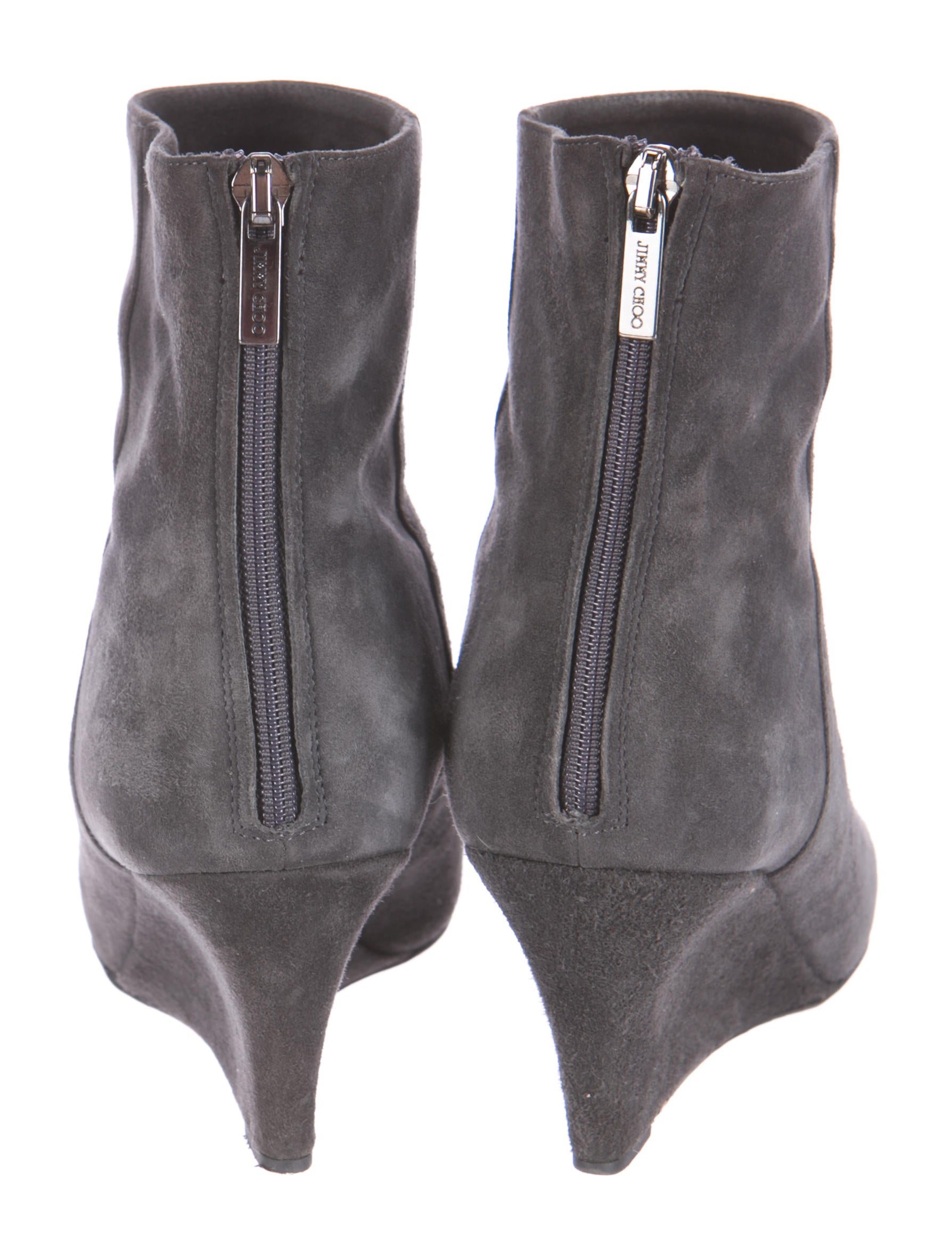 jimmy choo suede wedge ankle boots shoes jim41201