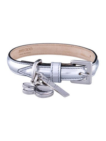 Jimmy Choo Metallic Dog Collar