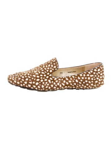 Jimmy Choo Cheetah Ponyhair Loafers