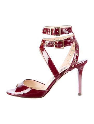 Jimmy Choo Patent Embellished Sandals